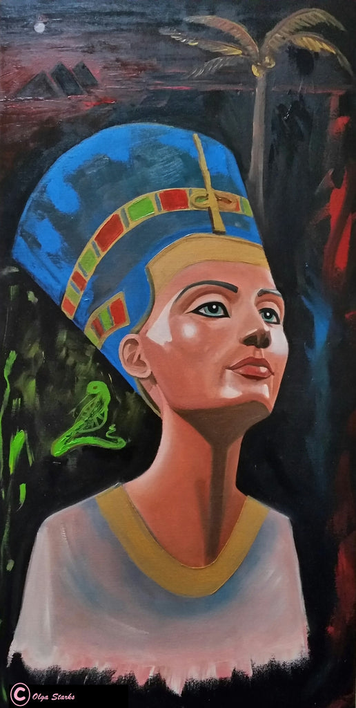 The Bust of Nefertiti-Unframed Matt Laminated Print