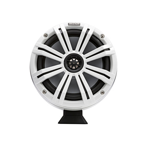 "KMFC Marine 8"" Flat Mount Coaxial Tower System - White"