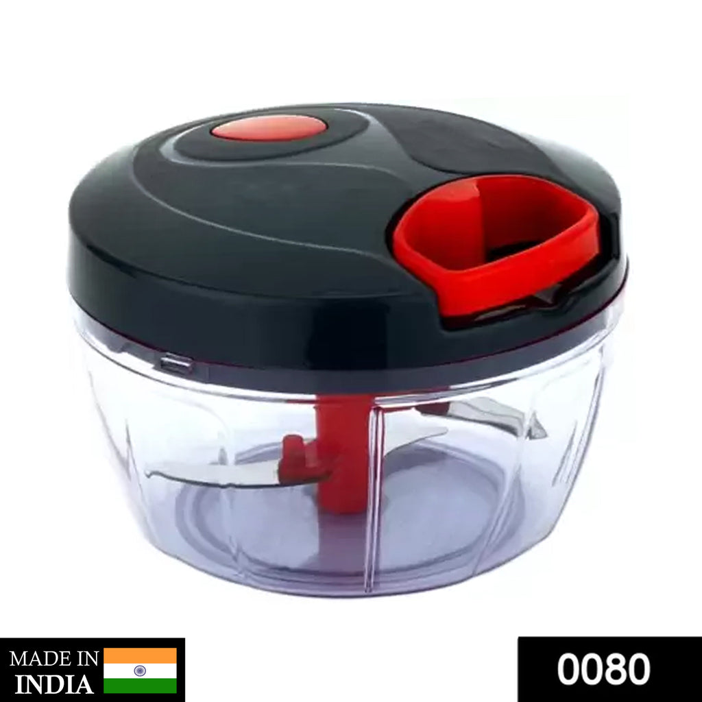 0080 Manual Food Chopper, Compact & Powerful Hand Held Vegetable Chopper/Blender - DeoDap