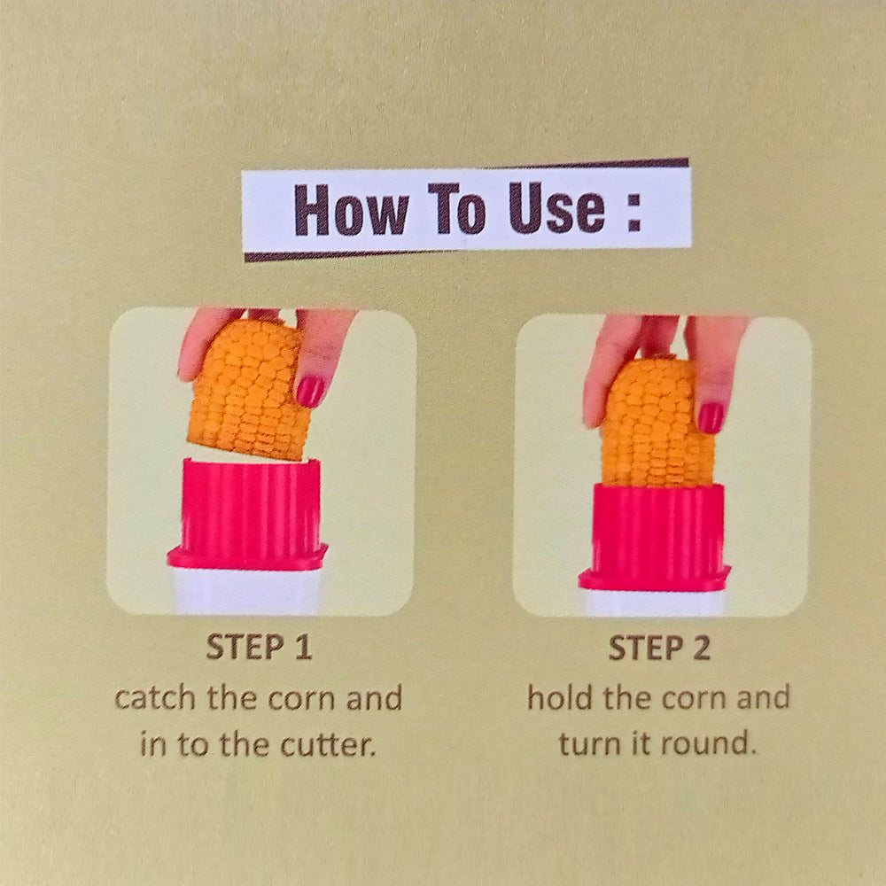 2320 Multi Use Plastic Corn Stripper Cob Remover Bowl - DeoDap