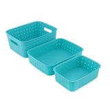 2270 Multipurpose Smart Shelf Basket  Storage Basket (Set 3 Pc) - DeoDap