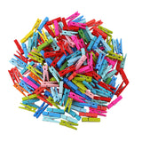 1345 Multipurpose Wooden Clips /Cloth Pegs (Small, 50 Pcs) - DeoDap