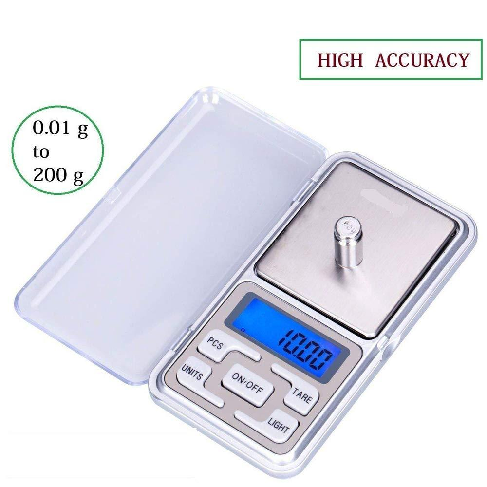 0643 Multipurpose (MH-200) LCD Screen Digital Electronic Portable Mini Pocket Scale(Weighing Scale), 200g - DeoDap