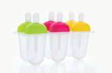 0737  6 Pcs Multicolor Polypropylene Ice Mold, Kulfi Maker/Stick/Cream/Candy Color Assorted
