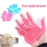 0172 Rubber Pet Cleaning Massaging Grooming Glove Brush - DeoDap