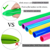 0584 Food Grade Silicone Straws (4pcs)