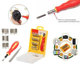 0430 Screwdriver Set  32 in 1 with Magnetic Holder - DeoDap