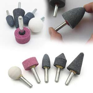 0412 -5 Pcs Shank Abrasive Mounted Stone (Multicolour)