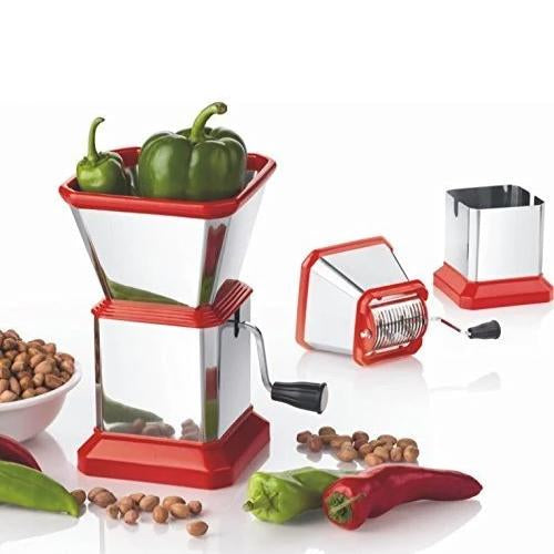 0084 Stainless Steel Vegetable Cutter Chopper (Chilly Cutter)