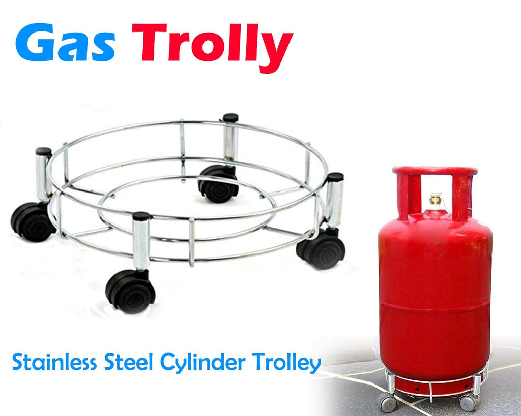 0118 Stainless Steel Gas Cylinder Trolley - DeoDap