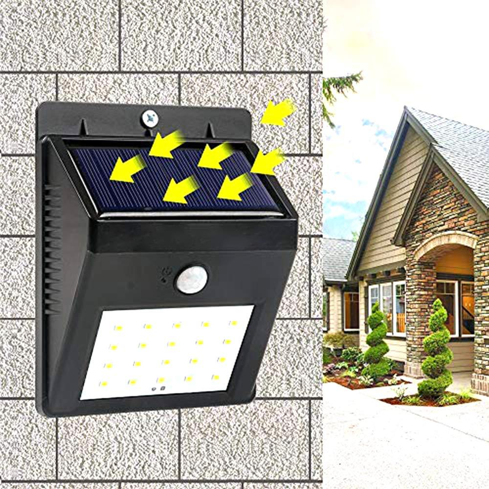 0213 Solar Security LED Night Light for Home Outdoor/Garden Wall (Black) (20-LED Lights) - DeoDap