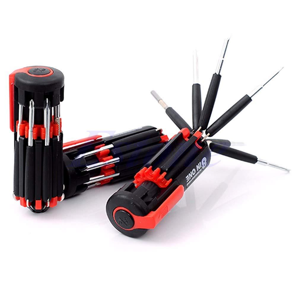 8 in 1 Multi-Function Screwdriver Kit with LED Portable Torch