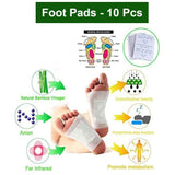 0644 kinoki Cleansing Detox Foot Pads, Ginger & salt Foot Patch -10pcs (Free Size, White)