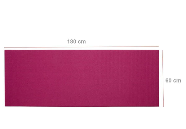524_Yoga Mat Eco-Friendly For Fitness Exercise Workout Gym with Non-Slip Pad (180x60xcm) Color may very