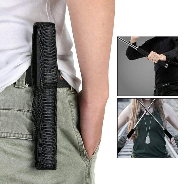 0576 Multi-Function Collapsible  Self Defense Stick Extended