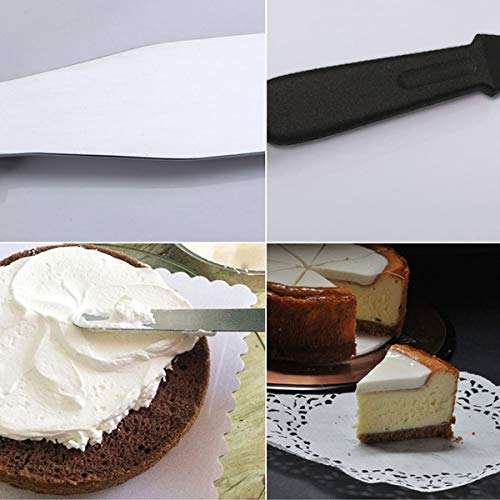 0807 Stainless Steel Palette Knife Offset Spatula for Spreading and Smoothing Icing Frosting of Cake
