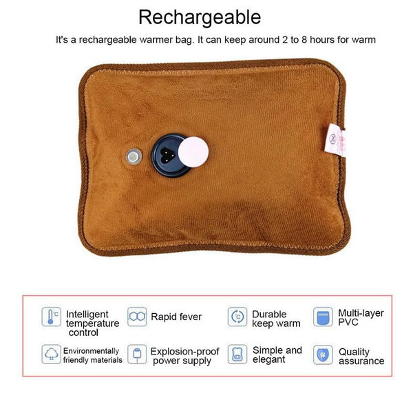 1376 Velvet Electric Water Bag For Instant Pain Relief (Multicolour) - DeoDap