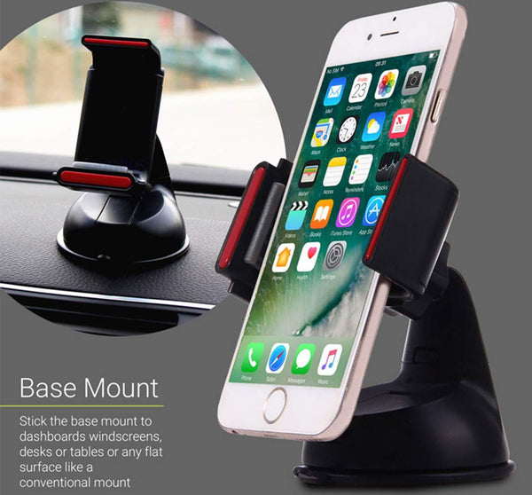 Silicone Sucker Car Mobile Holder for Dashboard/Windshield/Office Table