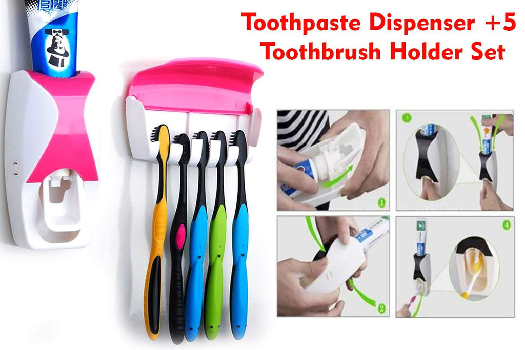0200 Toothpaste Dispenser & Tooth Brush with Toothbrush - DeoDap