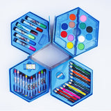 0859 46 Pcs Plastic Art Colour Set with Color Pencil, Crayons, Oil Pastel and Sketch Pens