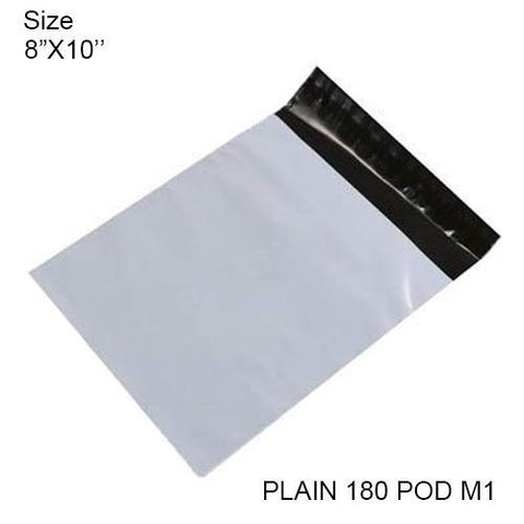 0901 Tamper Proof Courier Bags(8X10 PLAIN 180 POD M1) - 100 pcs - DeoDap