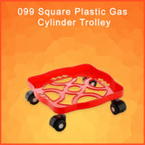 0099 Square Plastic Gas Cylinder Trolley