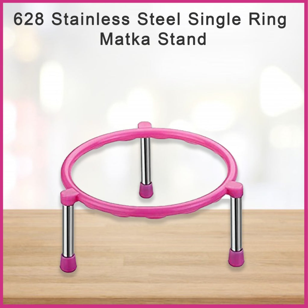 0628 Stainless Steel Single Ring Matka Stand