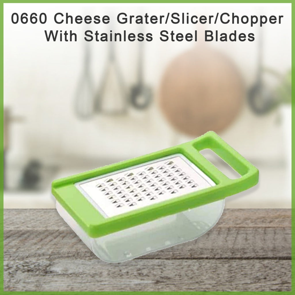 0660  Cheese Grater/Slicer/Chopper With Stainless Steel Blades