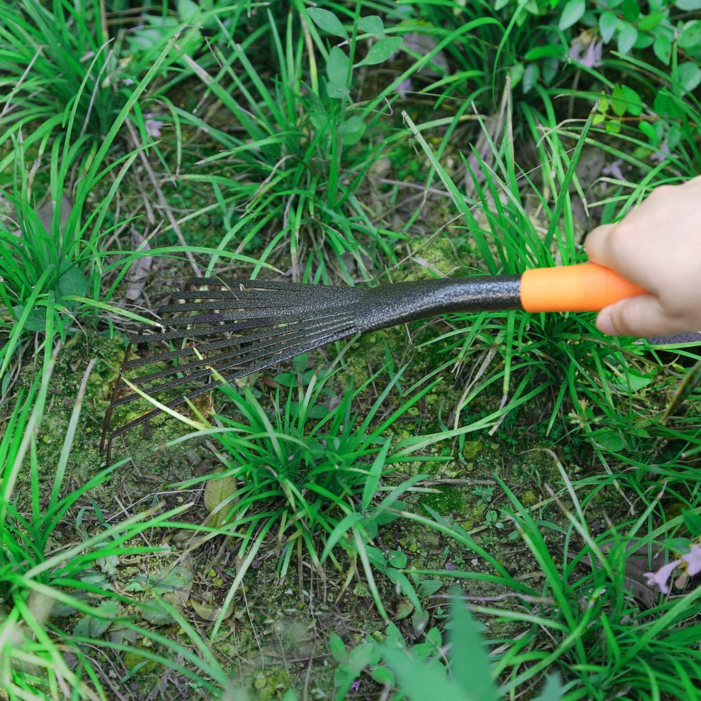 0554 Teeth Rake Garbage Clean up Fork Digger Excavator for Gardens and Planting
