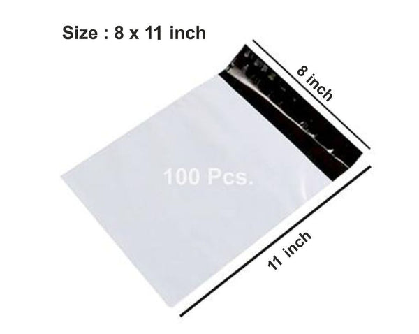 0928 Tamper Proof Polybag Pouches Cover for Shipping Packing (Size 8x11) - DeoDap