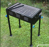 2105 Terrace Garden Picnic Barbecue with Skewers & Wooden Handle - DeoDap