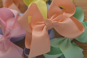 Bowco boutique Grosgrain Large Pastel Hair Bow