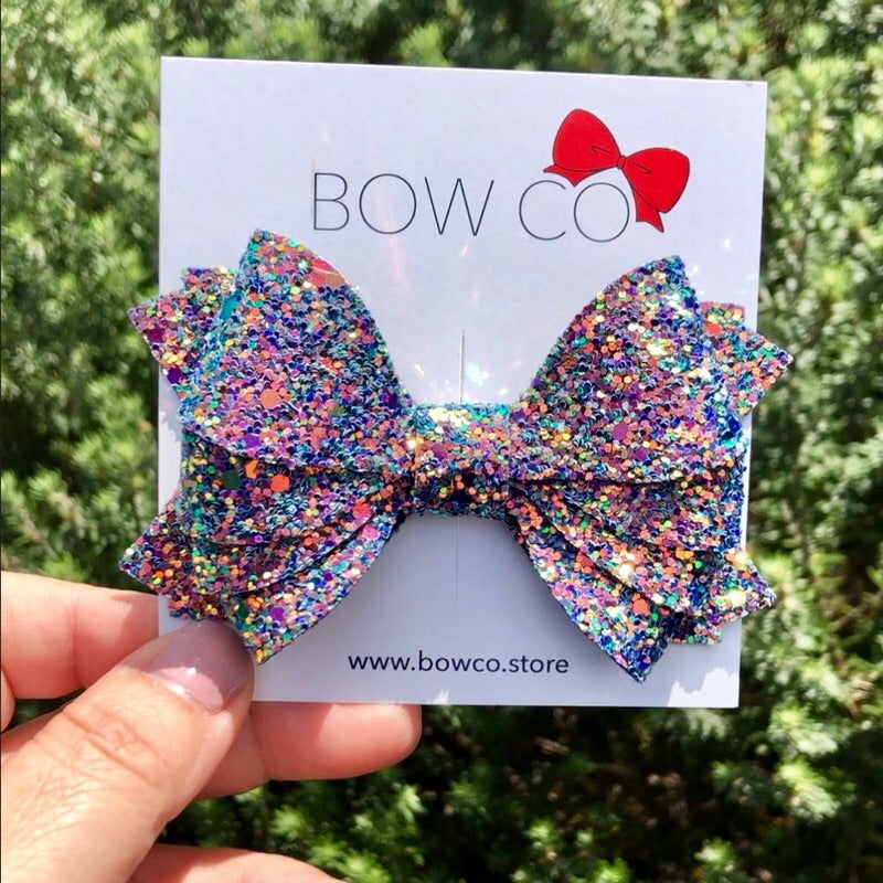 Iridescent Mermaid Glitter Isla Bow
