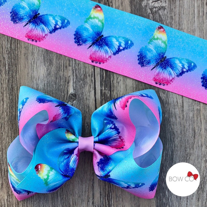Butterfly Glitter Jumbo Boutique Bow