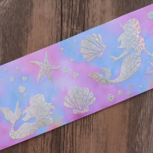 Under the Sea Silver Foil Jumbo Boutique Bow