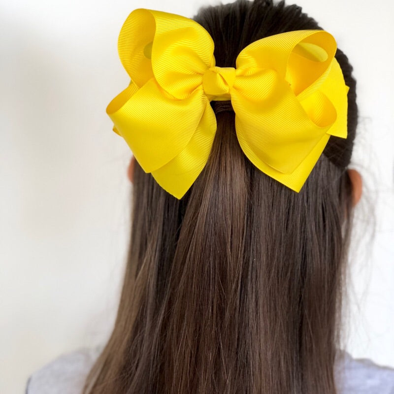 Stella Grosgrain Ribbon Hair Bow