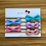 Faux Leather Gloss Round Bow Nylon Headband