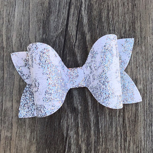 Lace Faux Leather Ivy Bow
