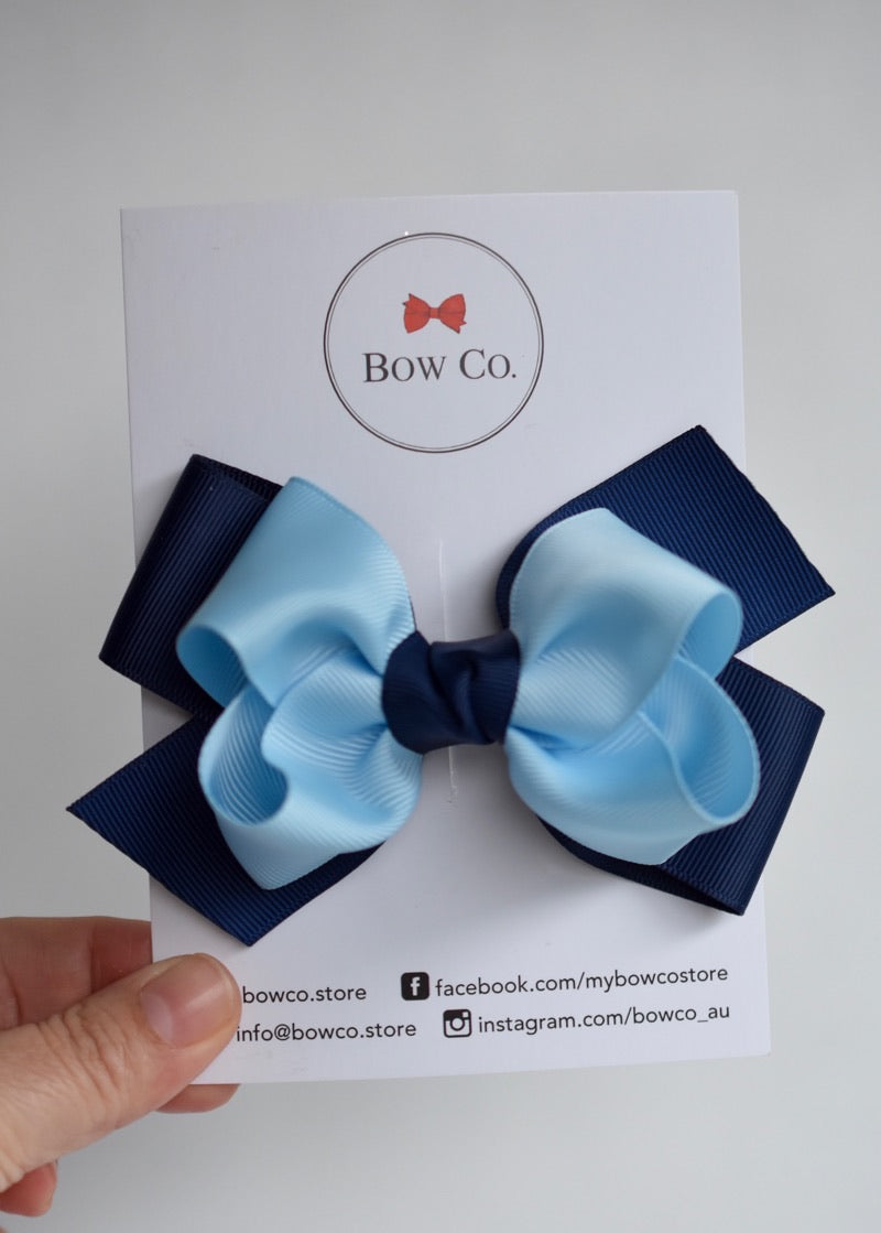 Stella Two Tone School Bow