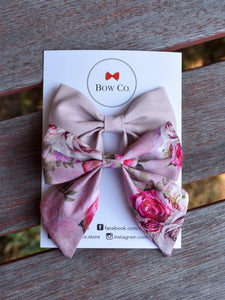 Violet Bow Set - Dusty Pink