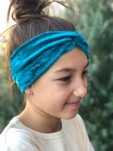 Jade Crushed Velvet Luxe Twist Headband