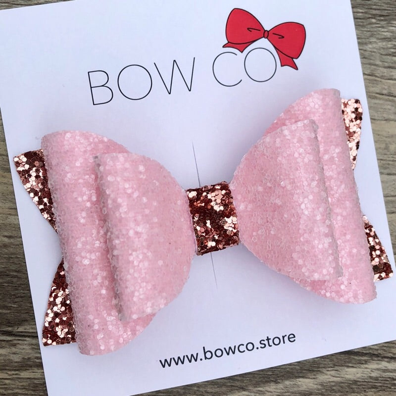 Rose Gold Frosted Pink Marshmallow Bow