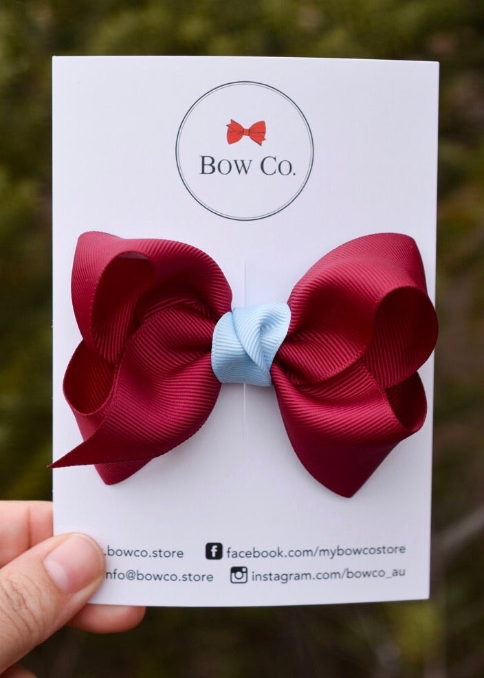 Boutique Two Tone School Bow