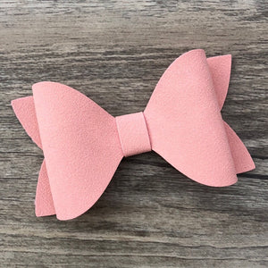 Faux Suede Ivy Bow