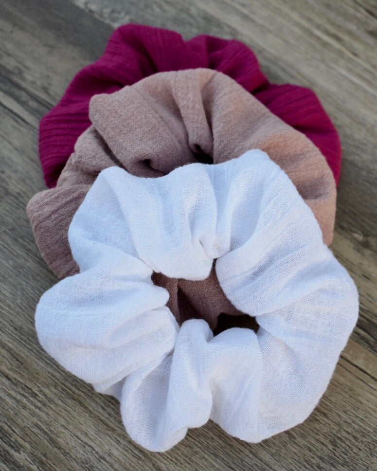 Cheesecloth Cotton Scrunchie