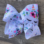 Unicorn Dreams Jumbo Boutique Grosgrain Ribbon Hair Bow