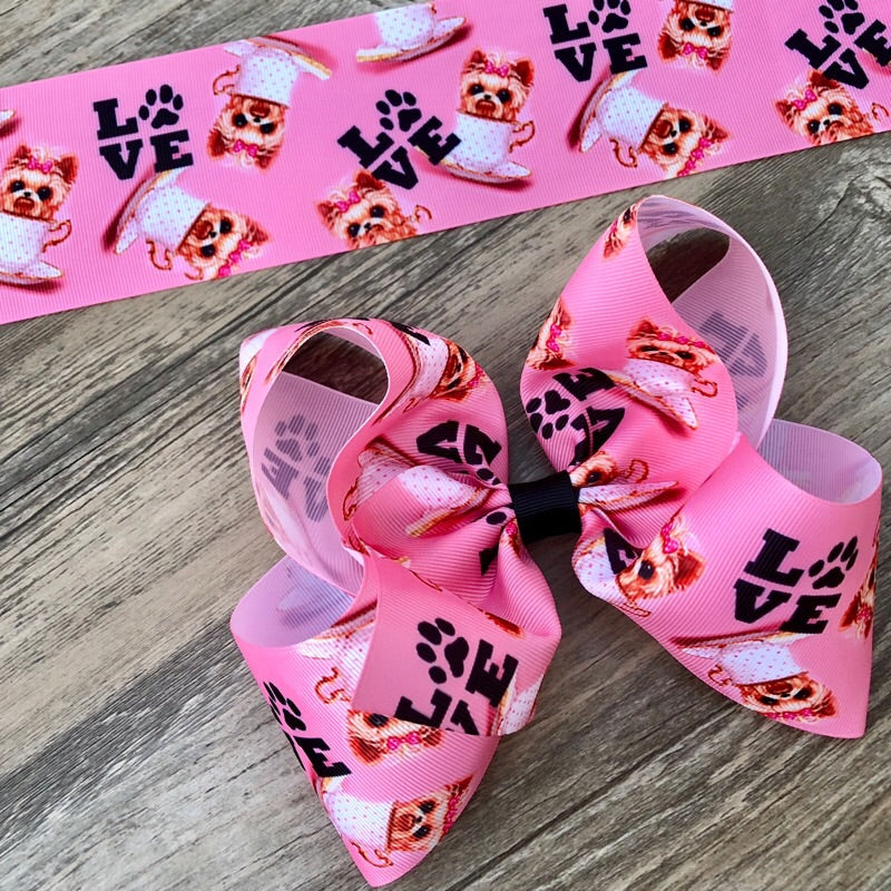 Teacup Puppy Jumbo Boutique Hair Bow