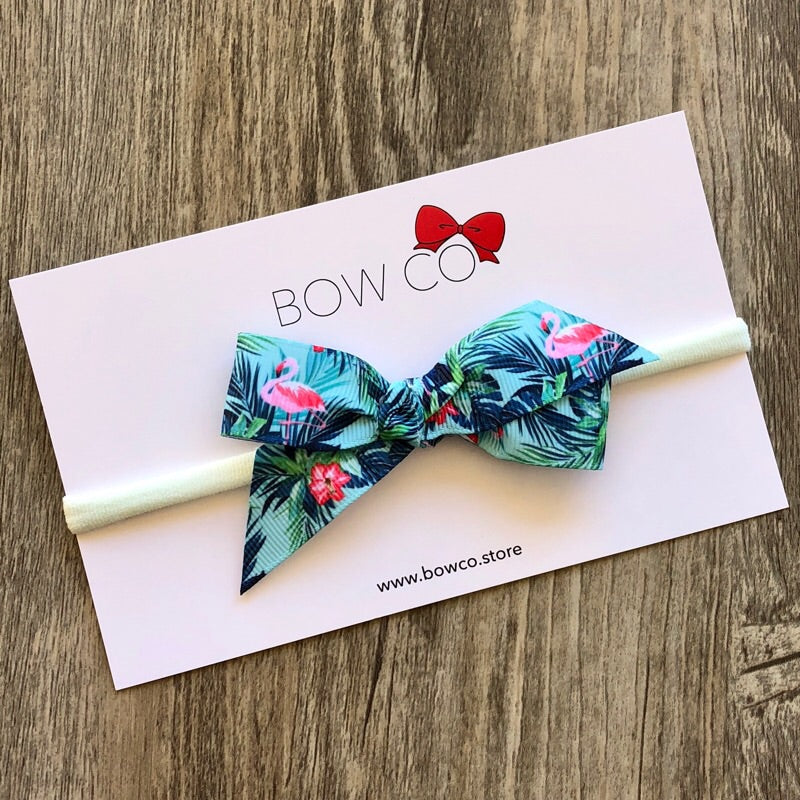 Tropical Flamingo Hair Bow