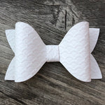 Mermaid Scale Faux Leather Ivy Bow