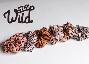 Animal Print Scruchies